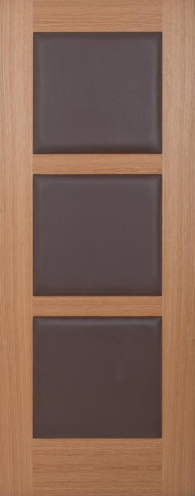 3 Panel Leather Brown Padded