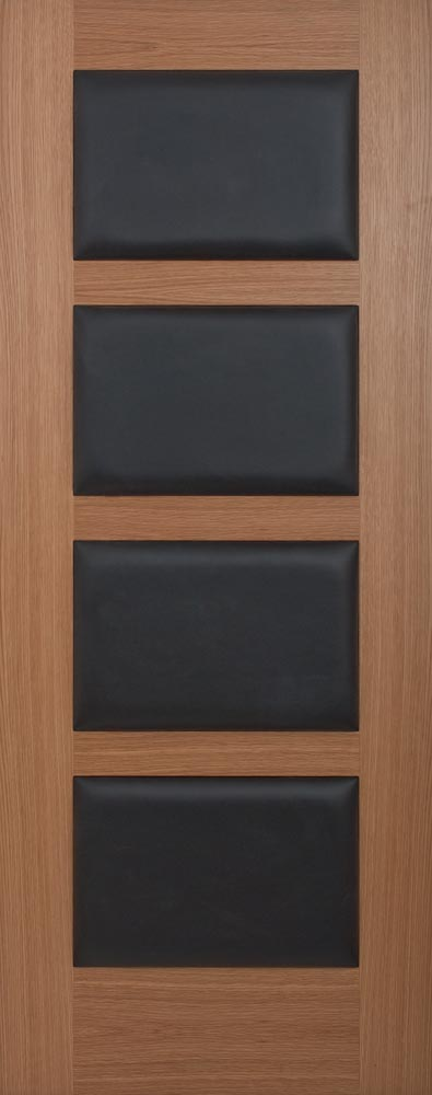 4 Panel Oak Leather Padded